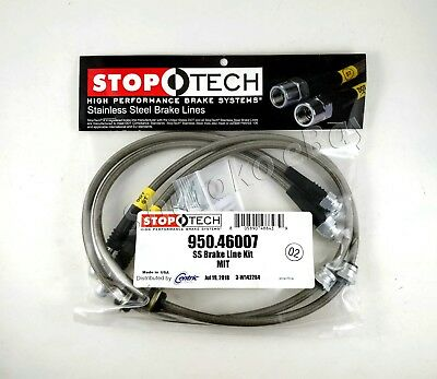 Stoptech Ss Stainless Steel Front Brake Lines For 08-13 Mitsu. Lancer Evo X 10