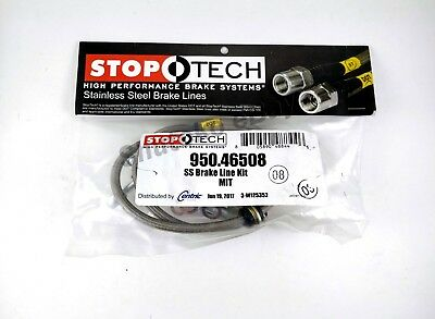 Stoptech Ss Stainless Steel Rear Brake Lines For 08-13 Mitsu. Lancer Evo X 10