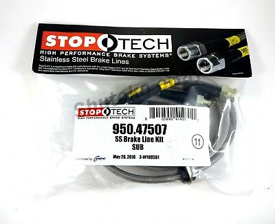 Stoptech Stainless Steel Rear Brake Lines For 02-17 Subaru Impreza / Wrx / Sti