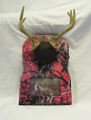 Whitetail Woodcrafters Photo Insert Taxidermy Antler Mounting Plaque- Camo Wood