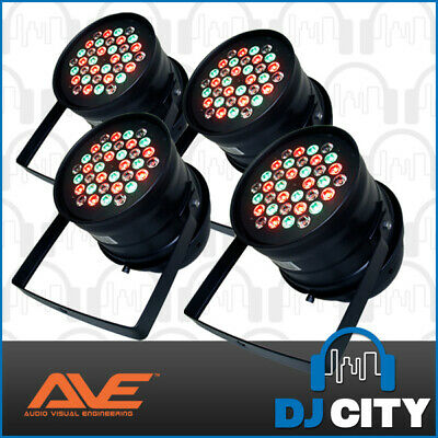 Pk-Tri-5 Ave High Powered Par 64 3W Led Parcan 4 Pack