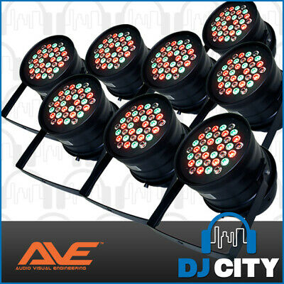 Pk-Tri-5 Ave High Powered Par 64 3W Led Parcan 8 Pack