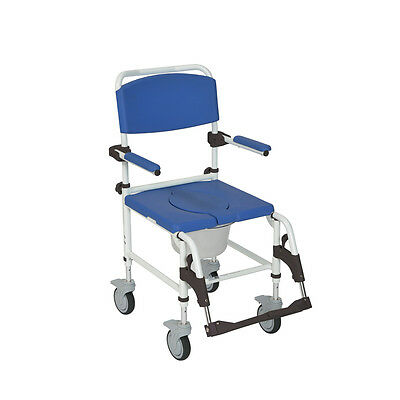 Drive Medical Aluminum Shower Commode Transport Chair NRS185007 NEW
