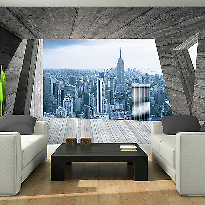 fototapete new york skyline penthouse b ro loft xxl poster tapete wandbild foto eur 39 99. Black Bedroom Furniture Sets. Home Design Ideas