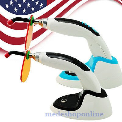 USA! Denshine 10W Wireless Cordless LED Dental Curing Light Lamp 2000mw