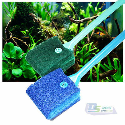 40cm Aquarium Fish Tank Double Sided Sponge Cleaning Brush Cleaner Scrubber New
