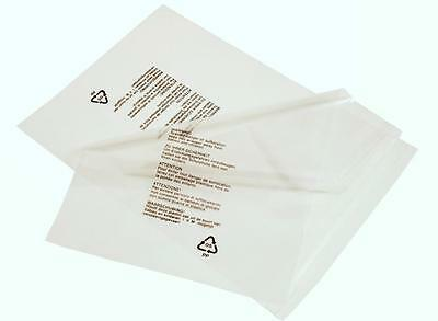 Clear Garment Polypropylene Protection Mailing Bags With Warning Notice 150Gauge