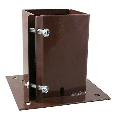 """Taurus BOLT DOWN Fence Post Holder Support   3"""" / 4"""" / 6""""   75 100 150 mm"""