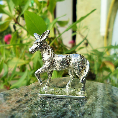 Collectable Donkey cast in Pewter, Cornish Made Gift