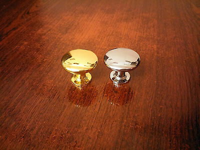 Metal Gold / Chrome Pull Handle Knobs for Furniture, Cupboard, Drawer, Home