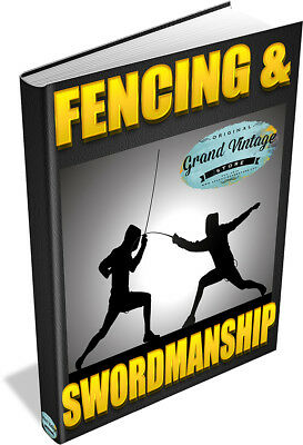 Fencing & Swordsmanship 25 Rare Books On Dvd - Sword Skills Foil, Learn To Fence