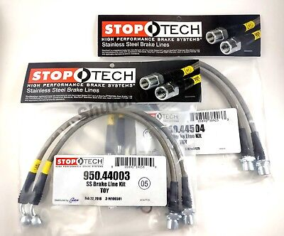 Stoptech Stainless Steel Front + Rear Brake Lines For 08-13 Lexus Is F Isf