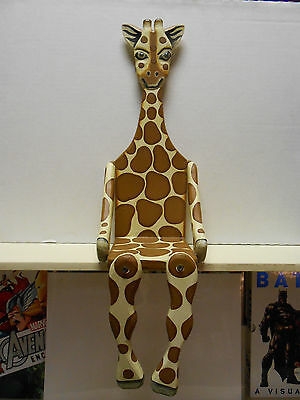 "24"" GIRAFFE Wooden Wall Shelf  Wild Animal Theme Jungle"