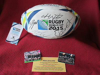 New Zealand - All Blacks 24 Hand Signed World Cup Rugby 2015 Wrc Football- Proof