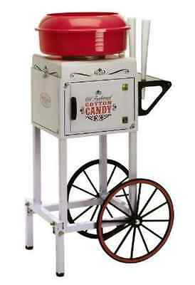 Vintage Style Metal Electric Sugar Cotton Candy Maker Cart & Tabletop Machine