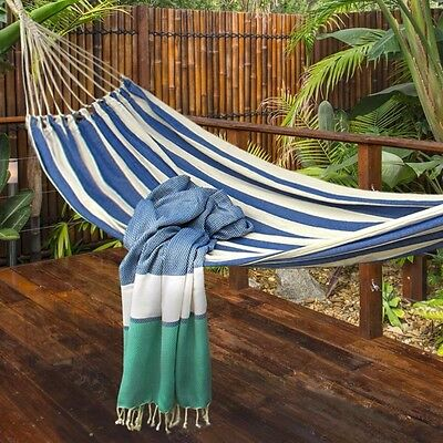 Hammock Heavy Woven + Carry Bag  Air Chair Hanging Swinging Camping Outdoor