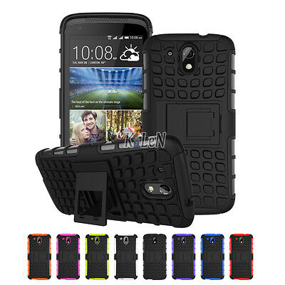 Heavy Duty kickstand Hybrid Shockproof Case Cover For HTC Desire 526 526G 526G+
