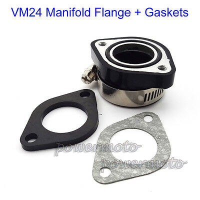Pit Dirt Bike 28mm Carby Rubber Manifold Flange Adapter Gasket For Mikuni VM24