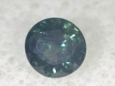 Natural Australian Sapphire .35cts Light Blue/Green 4.1mm Round. Our ID 2915.