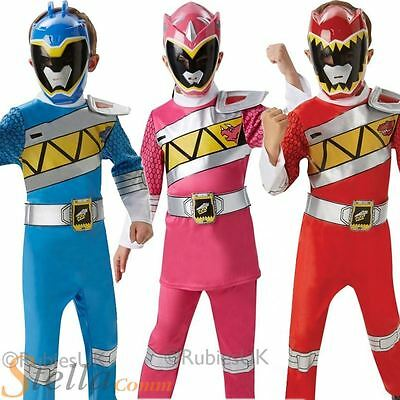 Kids Deluxe Power Rangers Dino Charge Fancy Dress Costume Boys Girls Child