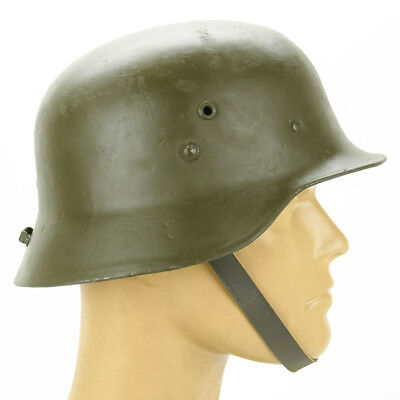 Original WWII Hungarian M38 Steel Helmet (German WW2 M35 Copy)- Size 56cm US 7