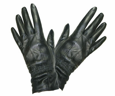 Soft And Supple Ladies Quality Black Leather Gloves