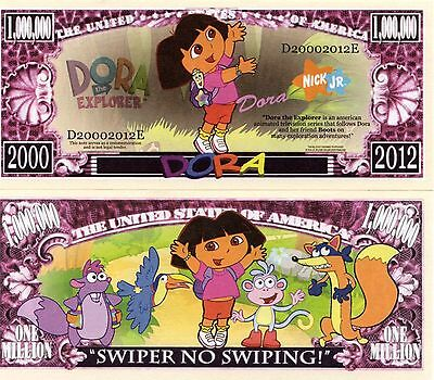 DORA the Explorer Cartoon Series Million Dollar Novelty Money