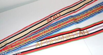 Iraq Afghanistan Terrorism Award Streamer set military surplus new cond. 4' long