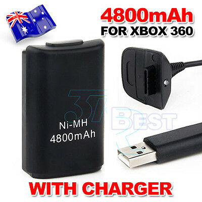 AU USB Charger Cable for XBOX 360 Battery Rechargeable Wireless Game Controller