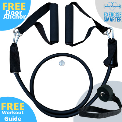 Resistance Band Heavy Duty Thick Tube With Handles Exercise Fitness Strength