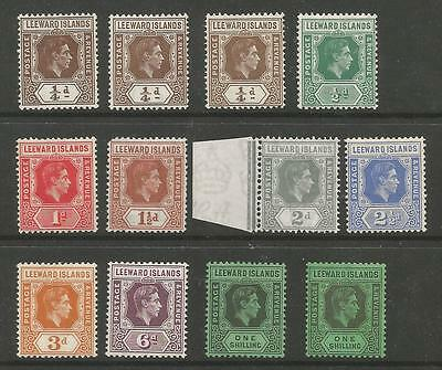 Leeward Is Gvi Mounted Mint Selection To 1/- Including Some Shades See Scans