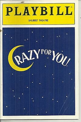 Playbill Crazy for You Shubert Theatre Aug 1992  FREE SHIPPING []
