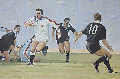 Rugby Print The Power & The Glory England All Blacks Campbell Signed Underwood