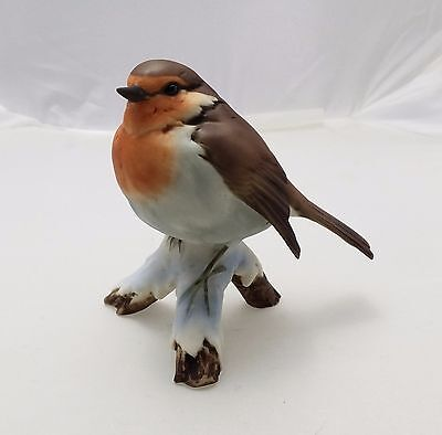 Kaiser Figurine Porcelain Hand Painted Limited Edition Red Throat Bird