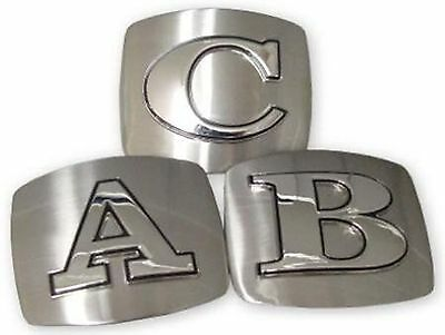 Initial Belt Buckle Usa American Alphabet Monogram Silver Metal Western Letters