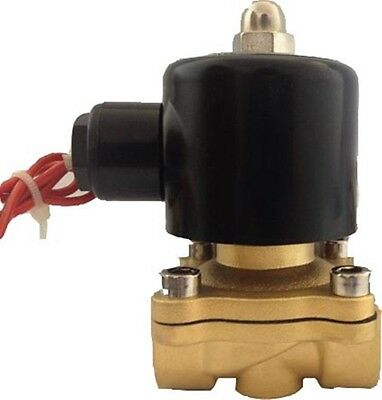 "New 1/2"" DC24V 2 Way 2 Position Brass Electric Solenoid Valve Water Air"