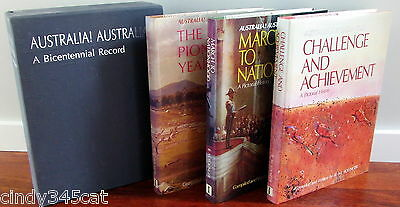 Australia! Australia! Bicentennial History Book Collection in Slipcase 3 Volumes
