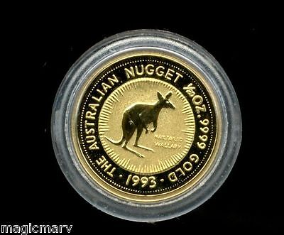 1993 Australian 1/20th oz Gold Nailtailed Wallaby .9999 fine in Mint Capsule
