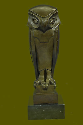 The Owl Art Deco,beautiful Bronze Statue Sculpture Hot Cast Classic Artwork Dali