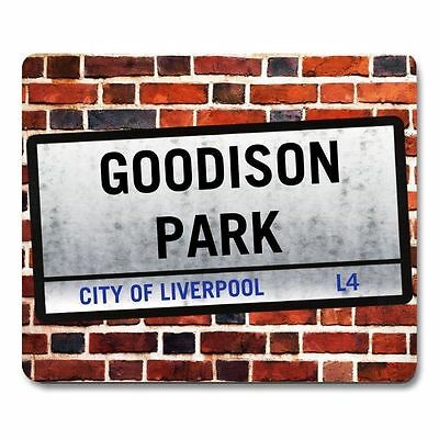 GOODISON PARK STREET SIGN style MOUSEMAT personalised mouse mat Everton football