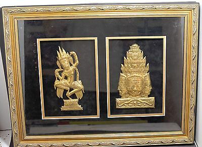 Southeast Asian Framed Art Work ~ 21'' x 16''~