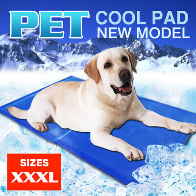 Pet Dog Cat Bed Non-Toxic Cooling Cool Water Cooling Gel Mat Summer Pad 81X96ccm