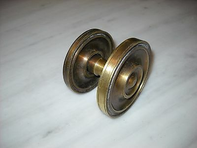 Vintage Greece solid brass large door knob handle D14