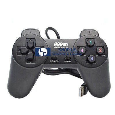 New Wired USB Game Controller pad Gamepad Joypad Joystick for Computer PC Laptop