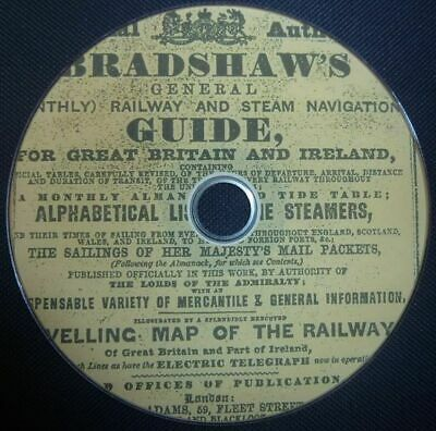 Vintage Railway Steam Train Locomotive Inc Bradshaws Guide 100 Antique Books DVD