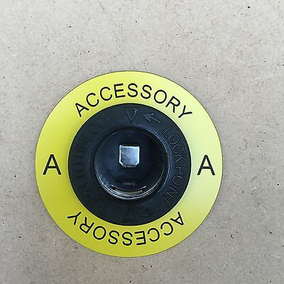 Round 12v Power Outlet Label ACCESSORY  suit Narva and Marine style Socket