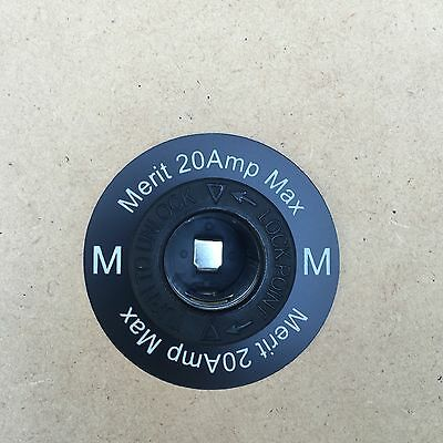 Round 12v Power Outlet Label MERIT socket suit Narva and Marine style Socket