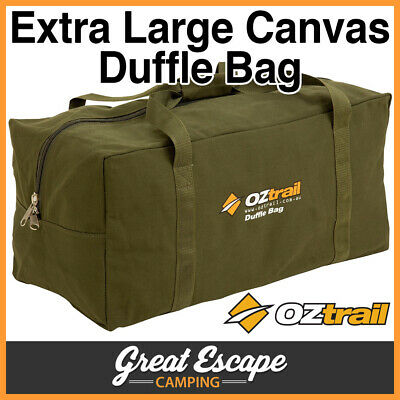OZTRAIL CANVAS EXTRA LARGE DUFFLE BAG Luggage XL
