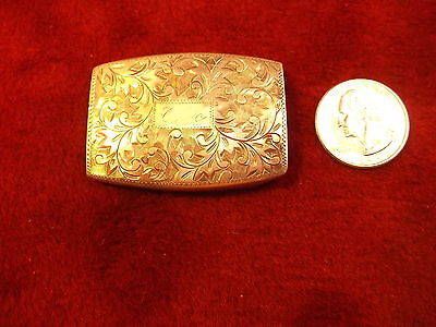 Gorgeous Old Vtg Art Nouveau Sterling Silver (950) Belt Buckle, Very Detailed