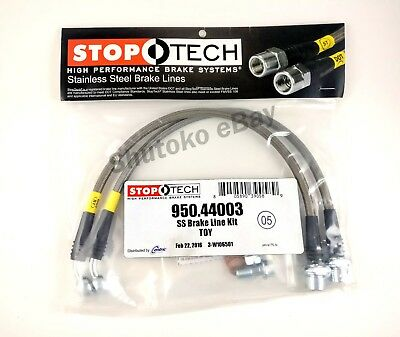 Stoptech Stainless Steel Front Brake Lines For 06-16 Lexus Is250 / Is350 / Is F